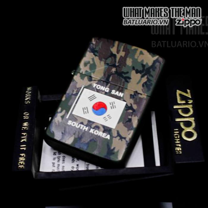 zippo la mã 1987 camo yong san south korea 5