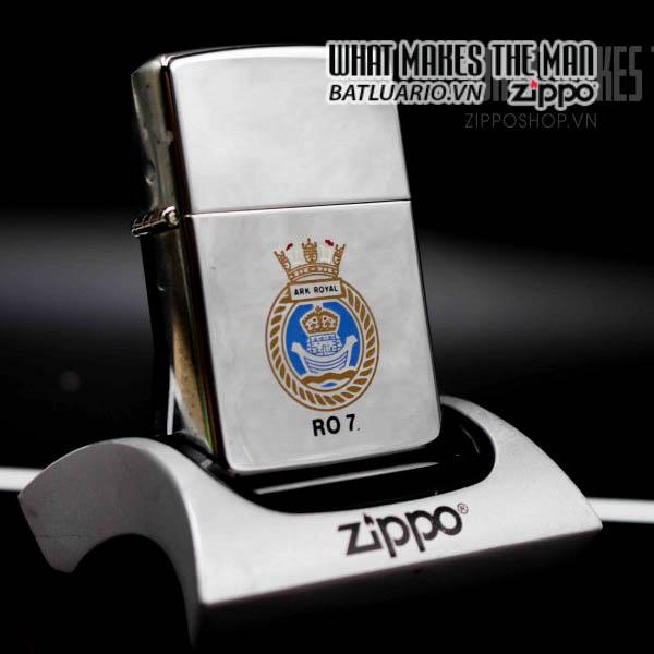 zippo la mã 1991 uss ark royal ro 7 1
