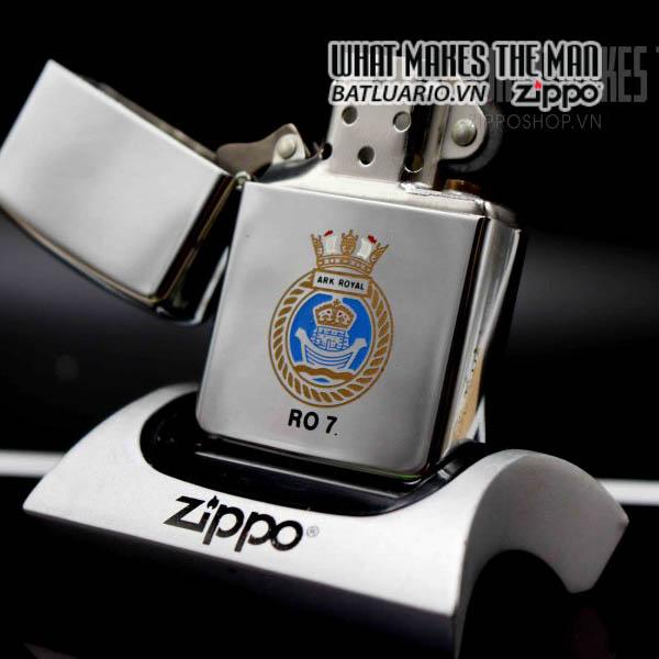 zippo la mã 1991 uss ark royal ro 7 7