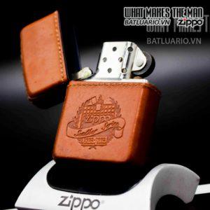zippo la mã 1992 bọc da 60th anniversary 9
