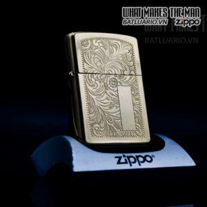 zippo la mã 1992 venetian đồng nguyên khối hoa văn ý 9