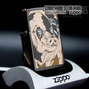 zippo la mã 1994 barret smythe midnight colection pig 3