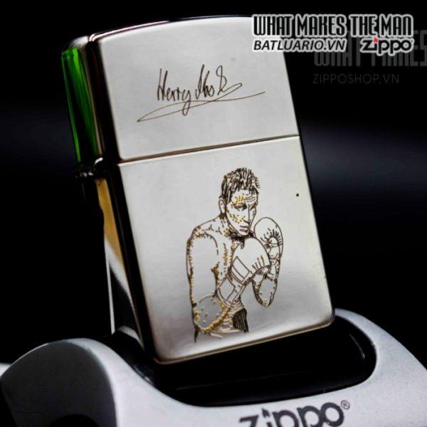 zippo la mã 1995 silver plate henry maske 3