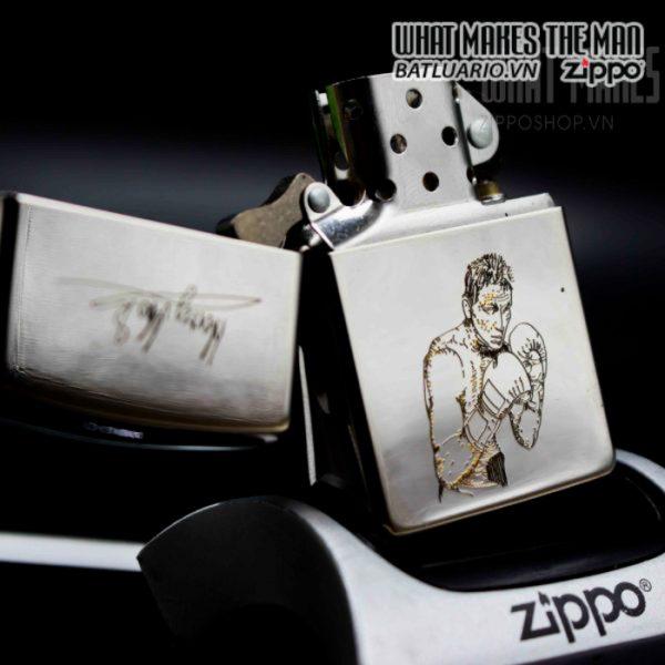 zippo la mã 1995 silver plate henry maske 1