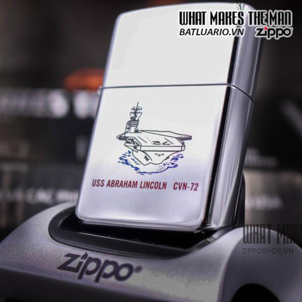 ZIPPO LA MÃ 1995 – TÀU CHIẾN – USS ABRAHAM LINCOLN CVN 72