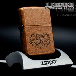 zippo la mã 1996 antique copper pussers charleston 12