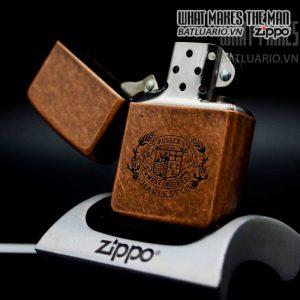 zippo la mã 1996 antique copper pussers charleston 11