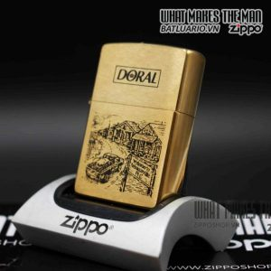 zippo la mã 1996 đồng nguyên khối zippo doral 5