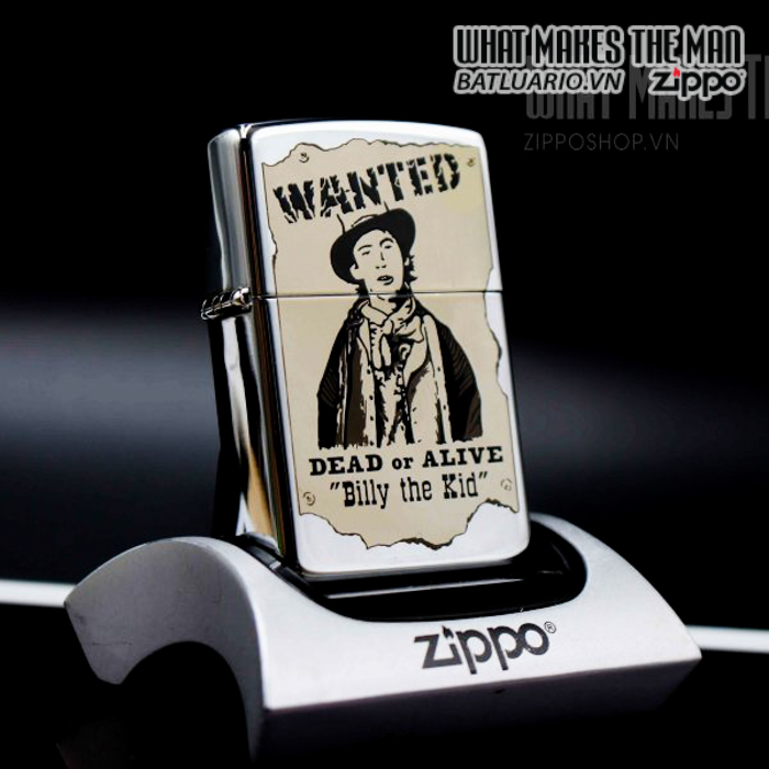 zippo la mã 1996 wanted billy the kid daed or alive 6