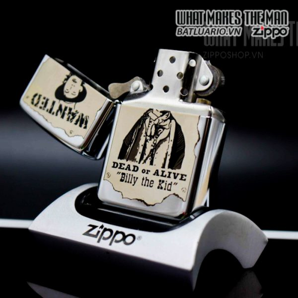 zippo la mã 1996 wanted billy the kid daed or alive 9