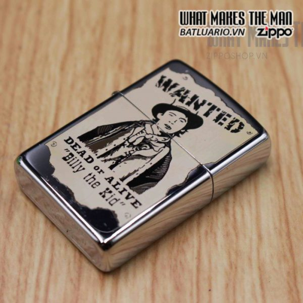 zippo la mã 1996 wanted billy the kid daed or alive 8