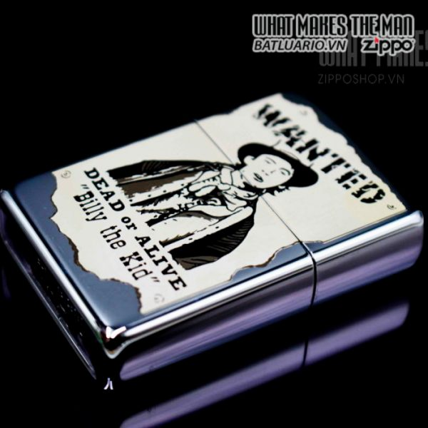 zippo la mã 1996 wanted billy the kid daed or alive 3