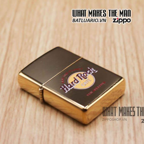 zippo la mã 1997 đồng nguyên khối cafe hard rock 5