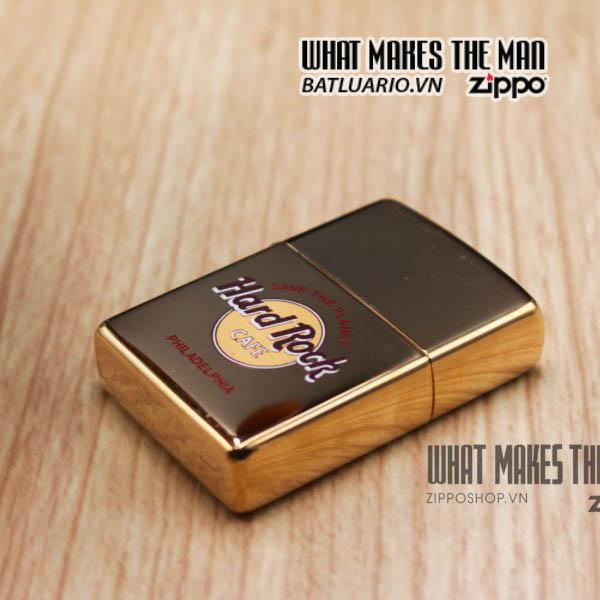 zippo la mã 1997 đồng nguyên khối cafe hard rock 4