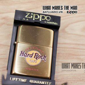 zippo la mã 1998 đồng nguyên khối cafe hard rock 1