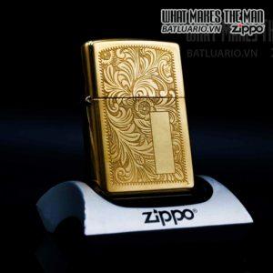 zippo la mã 2000 venetian đồng nguyên khối hoa văn ý 9