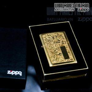 zippo la mã 2000 venetian đồng nguyên khối hoa văn ý 8
