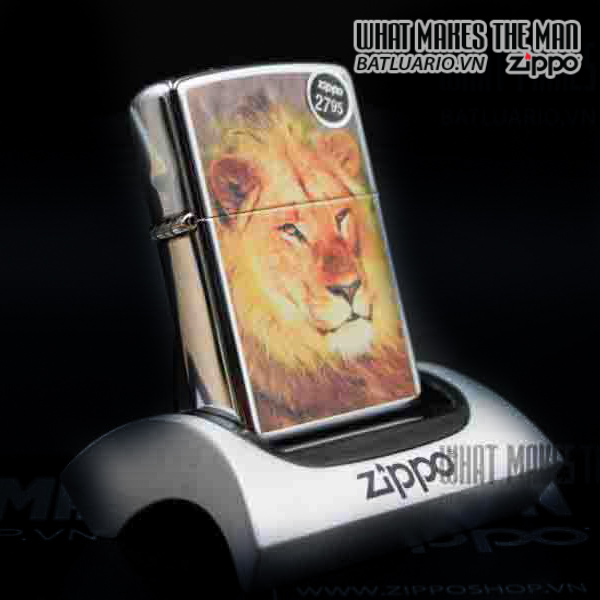 ZIPPO LION HIGH POLISH CHROME