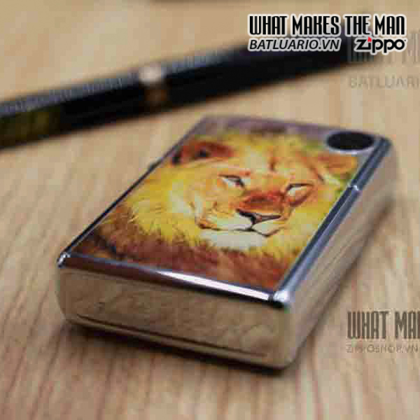 ZIPPO LION HIGH POLISH CHROME 3
