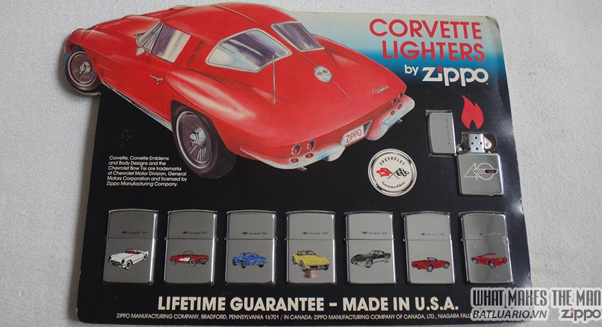 ZIPPO SET CORVETTE 40TH ANNIVERSARY