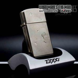zippo slim xưa 1957 silver filled cobra head 1