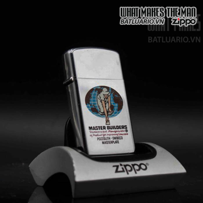 zippo slim xưa 1973 town country master builders 7