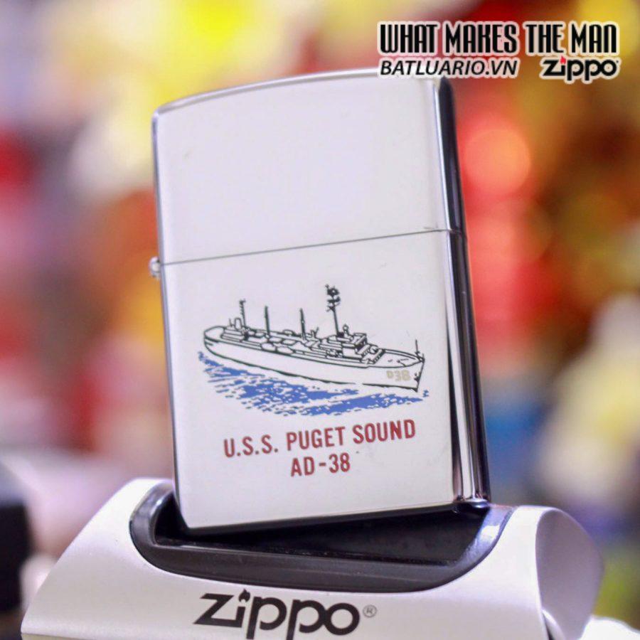 ZIPPO USS Puget Sound (AD-38) – 1977 5