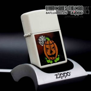 zippo white matte halloween 1