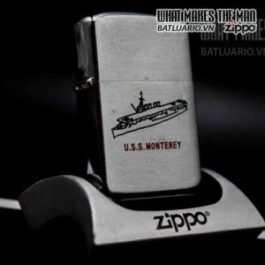 zippo xưa 1952-1954 uss monterey 1
