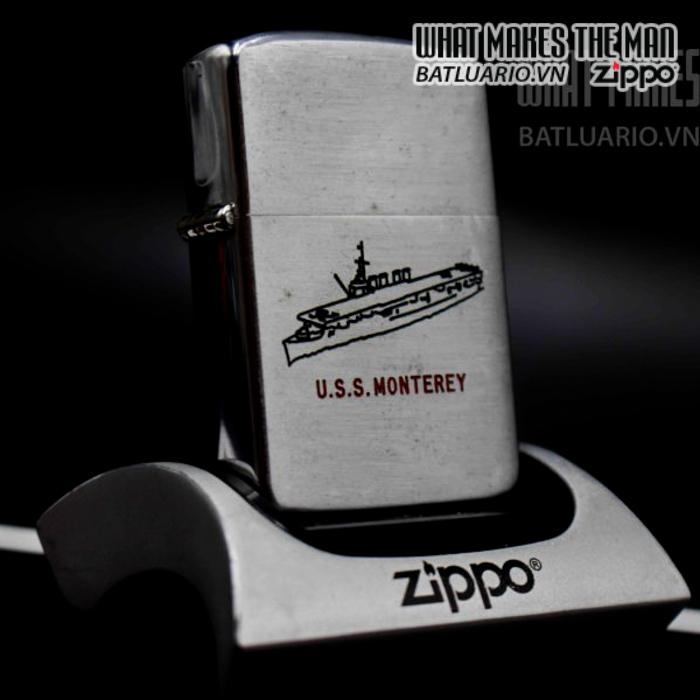 zippo xưa 1952-1954 uss monterey 9