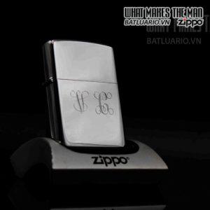 zippo xưa 1977 high polish chrome v a 3 6
