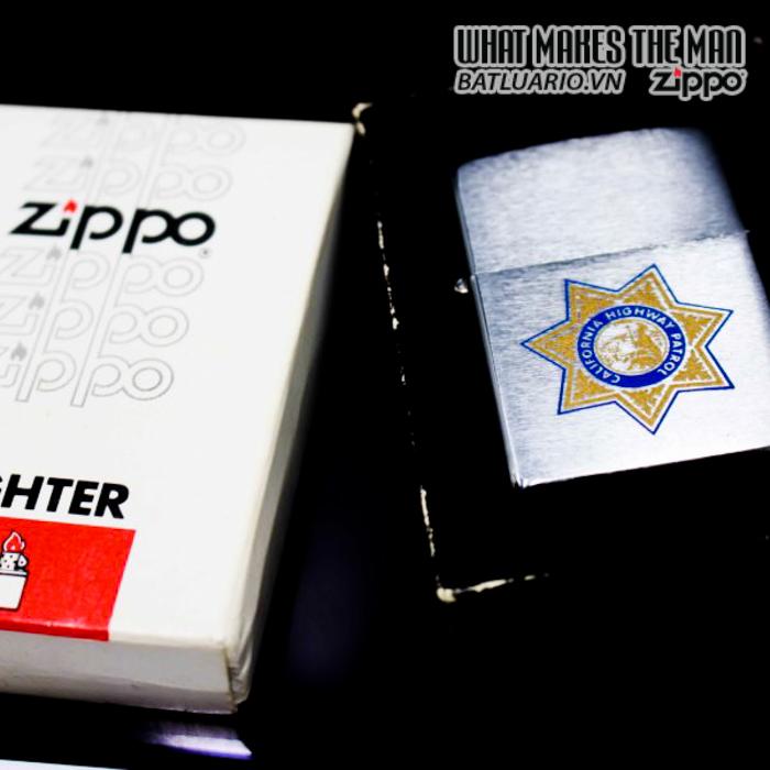 zippo xưa 1981 califonia highway patrol 8
