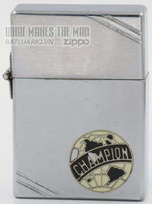 Zippo 1934 Outside Hinge Metallique Champion logo