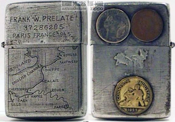 Zippo 1942-45 3 coins Map France