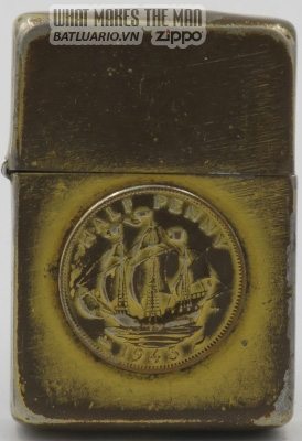 Zippo 1943 Gold painted Half Penny