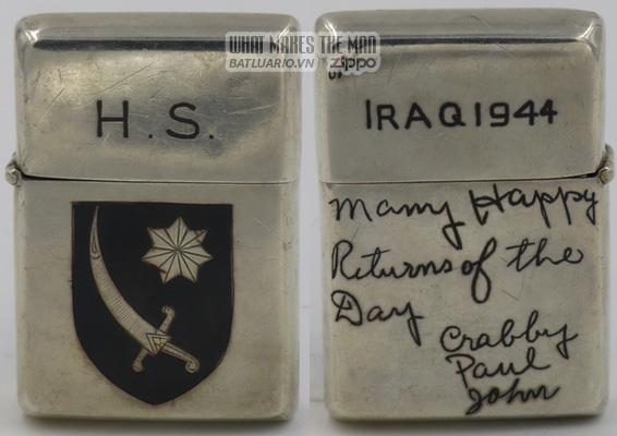Zippo 1944 Lighter Persian Gulf Command Iraq
