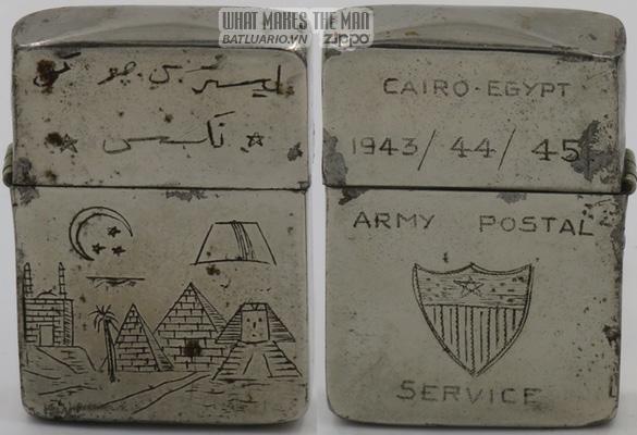Zippo 1945 Army Posta Service Egypt 2