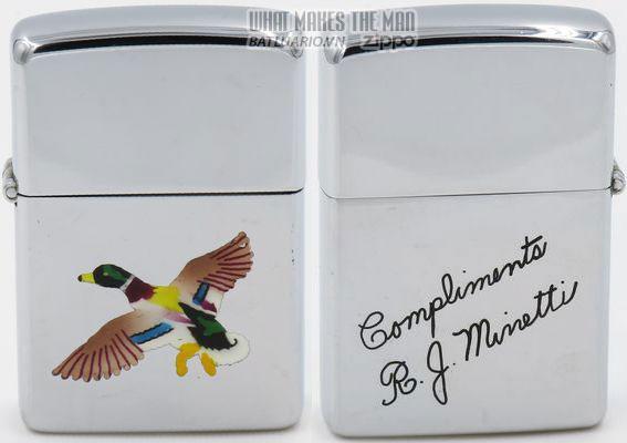 Zippo 1949-50 T&C Mallard Compliments RJ Minetti 2