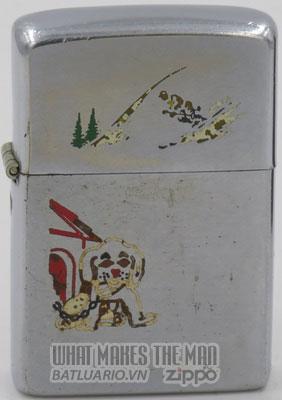 Zippo 1951 Employee Skier dog doghouse