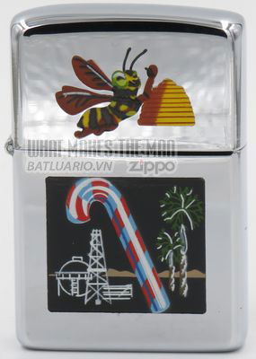 Zippo 1959 T&C Beehive Candy Cane