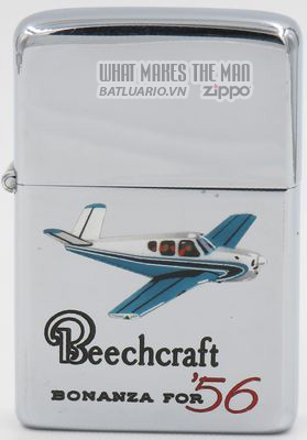 Zippo 1960-61 T&C Zippo with a graphic of a Beechcraft Bonanza for '56