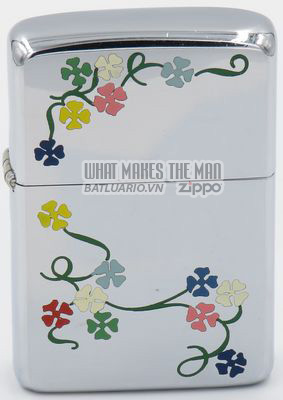 Zippo 1960 Town & Country Zippo morning glories