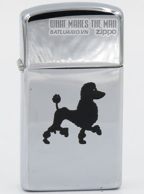 Zippo 1960 slim T&C - Zippo with a black poodle