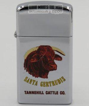 Zippo 1966 slim T&C - Zippo Santa Gertrudis Bull Tannehill