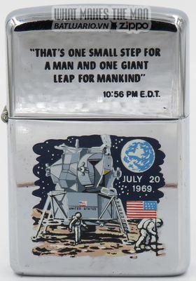 Zippo 1969 T&C - Zippo Moonlanding rare quote on lid