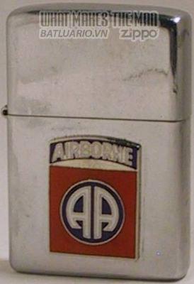 Zippo 1974 with Airborne Badge