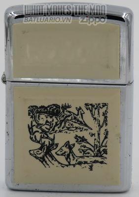 Zippo 1990 scrimshaw deer in woods