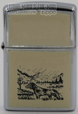 Zippo 1991 Scrimshaw Hunting Dog