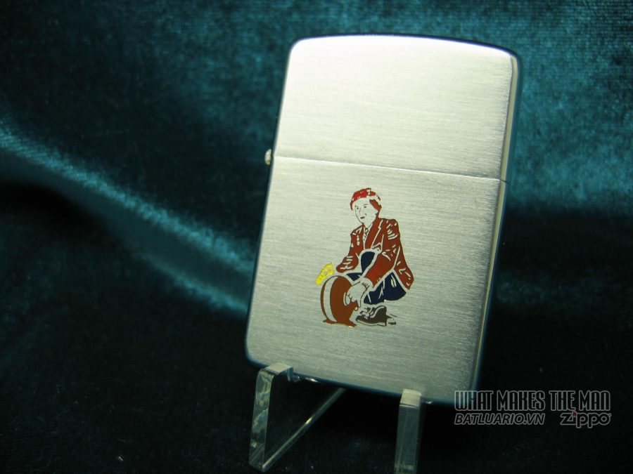 Zippo canada 1958 Female Curler with Rock 2