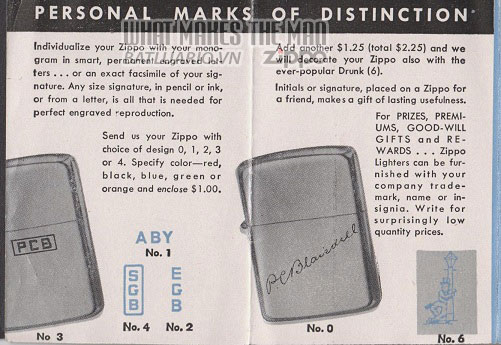 giấy hướng dẫn sử dụng zippo canada 1950s 3